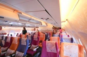 Inside Cabin Of Airbus A300-600r Thaiairway by nitinut