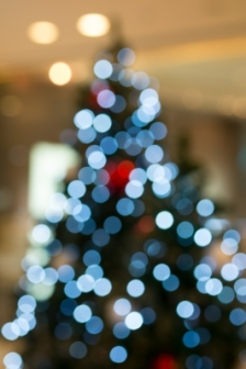 Abstract Of Christmas Tree Light Bokeh For Background by nipitphand